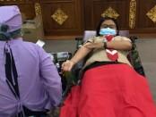 Gerakan Pramuka Kwarda Bali mengadakan kegiatan donor darah plasma konvalesen di Gedung Wiswa Sabha - foto: Istimewa