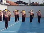 Pelaksanaan upacara memperingati Hari Pramuka ke 60 di Lembaga Pembinaan Khusus Anak (LPKA) Klas I Kutoarjo, Sabtu (14/08/2021) - foto: Sujono/Koranjuri.com