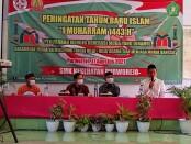 Tasyakuran di SMK Kesehatan Purworejo, dalam memperingati HUT Kemerdekaan RI ke 76 dan Tahun Baru Islam, Selasa (17/08/2021) - foto: Sujono/Koranjuri.com