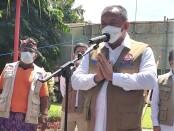 Kepala BNPB Letjen TNI Ganip Warsito saat melepas program mobil masker BNPB yang diluncurkan di Bali, Kamis (19/8/2021) - foto: Istimewa