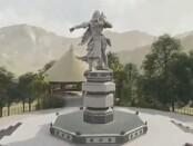 Visualisasi Monumen Ki Barak Panji Sakti - Taman Wanagiri di Desa Wanagiri, Sukasada, Buleleng Bali - foto: Istimewa