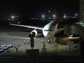 Qantas Airways tiba di bandara Ngurah Rai Bali, Sabtu (18/9/2021) malam dalam proses repatriasi warga Australia - foto: Istimewa