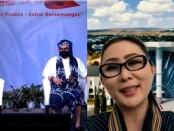 Screeshoot dialog virtual Flobamora Bali Julie Sutrisno Laiskodat
