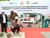Peletakan batu pertama pembangunan Islamic Center Persatuan Islam (PERSIS) DKI Jakarta di Jalan Bambu Apus, Cipayung, Jakarta Timur, Selasa (21/9/2021) - foto: Istimewa