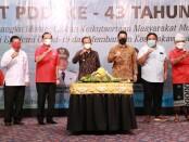 Gubenur Bali Wayan Koster menghadiri HUT PDDI ke-43 di di Badung, Sabtu  (25/9/2021) - foto: Istimewa