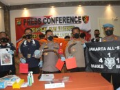 Polsek Kalideres Jakarta Barat menetapkan 8 orang sebagai tersangka dalam kasus begal yang terjadi di Jalan Satu Maret, Pengadungan, Kalideres Jakarta Barat, Minggu (19/9/2021) - foto: Istimewa