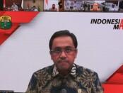 Ketua Umum PBSI Agung Sampurna saat memberikan keterangan secara virtual melalui zoom meeting terkait kejuaraan olahraga bertajuk 'Indonesia Festival Badminton' yang diselenggarakan di Bali November 2021 - foto: Istimewa