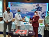 Dirut Perumda BPR Bank Purworejo, Wahyu Argono Irawanto, SE, MM, saat melaunching produk Kredit Air Bersih dan Sanitasi, Selasa (19/10/2021), di aula setempat - foto: Sujono/Koranjuri.com