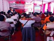 Para peserta Sekolah Lapang Gempabumi saat mengikuti paparan di Balai Desa Gedangan, Purwodadi, Purworejo, Rabu (06/10/2021) - foto: Sujono/Koranjuri.com