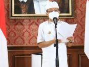Gubernur Bali Wayan Koster saat mengumumkan SE Nomor 18 Tahun 2021, Rabu, 6 Oktober 2021 - foto: Istimewa