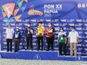 Komang Gde Krishnanda Putera Kusuma persembahkan medali perunggu di divisi Compound Individual Putra di PON XX Papua 2021 - foto: Istimewa