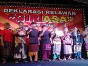 Deklarasi Relawan Giriasa Kuta Utara - Foto: Koranjuri.com