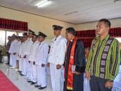 Pelantikan sembilan Penjabat Kepala Desa di Kecamatan Lobalain, Kabupaten Rote Ndao, Nusa Tenggara Timur - foto Isak Doris Faot