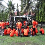 50 anggota FKPPI Purworejo sedang menjalani pelatihan SAR - foto: Sujono