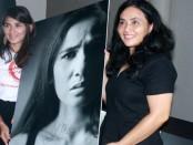 Salah satu karya fotografi yang terjual merupakan ekspresi wajah Nova Eliza. Hasil penjualan itu seluruhnya akan disumbangkan kepada perempuan korban kekerasan -  foto: Wahyu Siswadi/Koranjuri.com