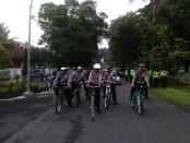 Jajaran Satlantas Purworejo giatkan patroli bersepeda - foto: Sujono/Koranjuri.com