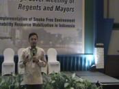 Walikota Bogor Bima Arya saat menghadiri Regional High Level Meeting untuk Implementasi Kawasan Tanpa Rokok yang Efektif di Indonesia - foto: Lanjar Artama/Koranjuri.com