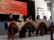 Konferensi pers Penyanderaan (gijzeling) penunggak pajak di Rutan Purworejo, Jum'at, 1 April 2016, oleh Kanwil DJP Jateng II - foto: Sujono/Koranjuri.com