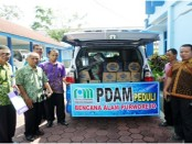 Aksi PDAM Purworejo peduli bencana - foto: Sujono/Koranjuri.com