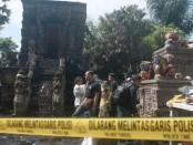Pura Gede Lan Prajapati Desa Adat Abiansemal terbakar, Sabtu, 18 Juni 2016 - foto: Wahyu Siswadi/Koranjuri.com