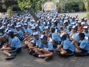 Kegiatan masa Pengenalan Lingkungan Sekolah di SMP Negeri 3 Denpasar. Sebanyak 360 orang mengikuti kegiatan tersebut - foto: Ida Bagus Alit/Koranjuri.com