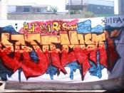 Grafiti karya siswa SMA Negeri 2 Denpasar dipajang untuk dilombakan dalam menyambut HUT ke-51 SMA Negeri 2 Denpasar atau Resman - foto: Koranjuri.com