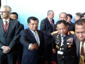 Wakil Pesiden Jusuf Kalla menggantikan presiden Joko Widodo membuka Sidang Umum Ke-85 Interpol di Bali Nusa Dua Convention Center (BNDCC) Nusa Dua, Bali - foto: Suyanto/Koranjuri.com