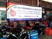Kegiatan bakti sosial donor darah di SMK PN Purworejo, Kamis (10/11) - foto: Sujono/Koranjuri.com
