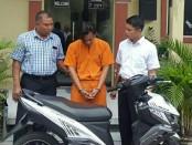 Pelaku curanmor Teguh Pribadi (27) warga Lumajang diamankan petugas Polsek Denpasar Selatan setelah berbulan-bulan jadi buron - foto: Istimewa
