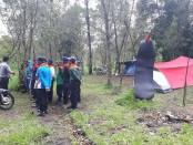 Koordinasi yang dilakukan Polres Karanganyar di lokasi tempat kejadian - foto: Istimewa