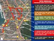 Peta perubahan arus lalu lintas di wilayah Kuta - sumber: Satlantas Polresta Denpasar