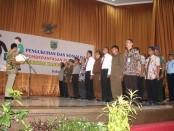 Pengukuhan Satgas Saber Pungli Kabupaten Kebumen, Kamis (9/2) - foto: Sujono/Koranjuri.com