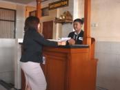 Ujian Kompetensi Keahlian (UKK) jurusan Akomodasi Perhotelan yang menguji siswa dengan kompetensi keahlian Front Office - foto: Koranjuri.com