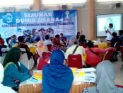 Seminar Dunia Usaha Bertema Kemitraan dan Perlindungan Yang Inklusif Disabilitas, Selasa (31/1), di RM Dargo Pangen - foto: Sujono/Koranjuri.com