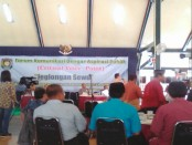 Acara Forum Komunikasi Dengar Aspirasi Publik bertema Jeglongan Sewu, Selasa (14/3) - foto: Sujono/Koranjuri.com