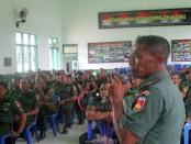 Prajurit Kodim 0708 Purworejo tengah mengikuti Latihan Tekhnis Teritorial, di Gedung Jendral Sudirman, Makodim Purworejo - foto: Sujono/Koranjuri.com
