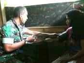 Posko Kesehatan TMMD Wonosido -foto: Sujono/Koranjuri.com