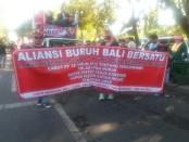 Aksi massa buruh di Bali peringati Mayday - foto: Istimewa
