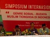 Simposium Internasional bertema 'genre Sosial-Budaya Muslim Tionghoa di Indonesia di Hotel Inna Garuda Yogyakarta - foto: Lanjar Artama/Koranjuri.com