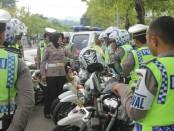 Pengecekan kendaraan operasional Satlantas Polres Kebumen oleh tim dari Dirlantas Polda Jateng, Kamis (8/6) - foto: Sujono/Koranjuri.com