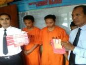 Ketiga pelaku pengedar sabu-sabu diamankan di Polresta Denpasar - foto: Istimewa