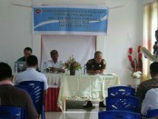 Dinas Tenaga Kerja Kabupaten Rote Ndao menggelar sosialisasi terkait pemahaman kepada para pemimpin BUMD/BUMN dan swasta tentang berbagai aturan yang berlaku sesuai dengan amanat Undang-undang dan sanksi - foto: Isak Doris Faot/Koranjuri.com