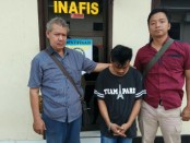 Dua tersangka residivis curanmor, kini diamankan di Mapolres Kebumen - foto: Sujono/Koranjuri.com