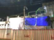 Lantai dua Pasar Baledono yang ambrol saat dibangun - foto: Sujono/Koranjuri.com