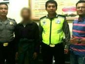 MS, warga Sadang, ayah tiri bejat yang tega menggauli anaknya sendiri hingga hamil, kini ditahan di Mapolsek Sadang, Polres Kebumen - foto: Sujono/Koranjuri.com
