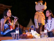 Maudy Ayunda, pelantun tembang 'Cinta Datang Terlambat' hadir sebagai bintang tamu talkshow Raimuna Nasional XI 2017 di Bumi Perkemahan Cibubur, Jakarta Timur - foto: Kwarnas Gerakan Pramuka