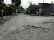 Kondisi di jalan Kusuma Bangsa Utama, Denpasar yang menjadi akses utama ke ruas jalan Kusuma Bangsa I hingga VI - foto: Koranjuri.com