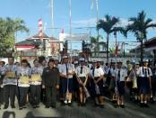 Upacara peringatan HUT Kemerdekaan RI Ke-72 di SMP PGRI 2 Denpasar, Kamis, 17 August 2017 - foto: Koranjuri.com
