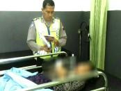 Korban Putri Nurlaeli, saat berada di RS Purbowangi, Kebumen - foto: Sujono/Koranjuri.com