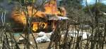 Lalai Tinggalkan Tungku Api Menyala, Rumah Bebak Ludes Terbakar